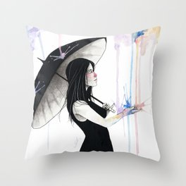 Pluviophile Throw Pillow