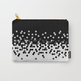 Flat Tech Camouflage Black and White Carry-All Pouch