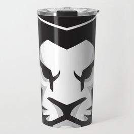 Black & White lion x Crown Travel Mug