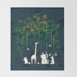 Re-paint the Forest Throw Blanket