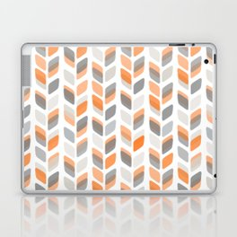 Modern Rectangle Print with Retro Abstract Leaf Pattern Laptop & iPad Skin
