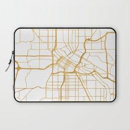 MINNEAPOLIS MINNESOTA CITY STREET MAP ART Laptop Sleeve