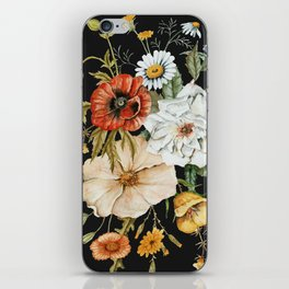 Wildflower Bouquet on Charcoal iPhone Skin