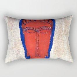 "Amedeo Modigliani ""Big Red Buste"" Rectangular Pillow"