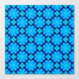 Blue Fans of Japan Canvas Print