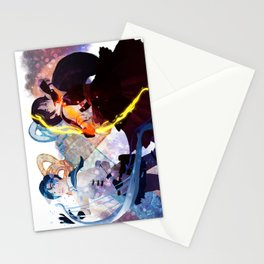 pretty soldier sailor mercury and mars Stationery Cards