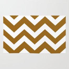 Golden brown - brown color - Zigzag Chevron Pattern Rug