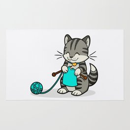 Knitty Kitty Rug
