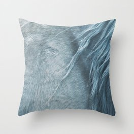 Wild horse photography, fine art print of the mane, for animal lovers, home decor Throw Pillow