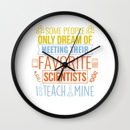 Science Teacher Gift Teachers Biology Chemistry Physics Scientist Wall Clock