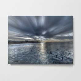 Morning Monotones Huntington Beach Metal Print