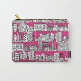New York pink Carry-All Pouch