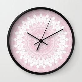 Boho Pink Mandala Wall Clock