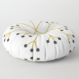 Mod Snowflake Olive Floor Pillow