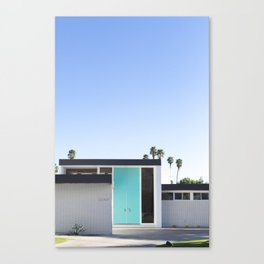 Turquoise Door, Palm Springs Canvas Print