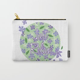 Periwinkles Flowers - Just Relax Carry-All Pouch