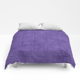 Ultra Violet Oil Pastel Color Accent Comforters