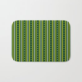 Stripes Pattern #204 (green) Bath Mat