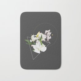 Tropical Flowers & Geometry II Bath Mat