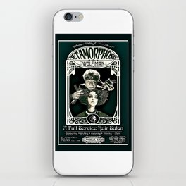 Metamorphosis by The Wolf Man: A Full Service Hair Salon (Vintage) iPhone Skin