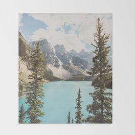 Moraine Lake II Banff National Park Throw Blanket