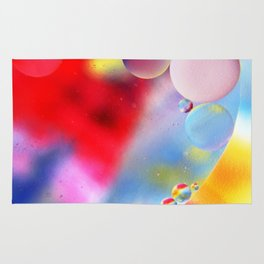 Rainbow bubbles Rug