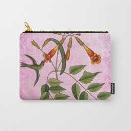 Hummingbird with Trumpet Vine Carry-All Pouch