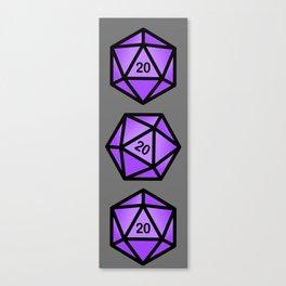 Purple d20 Canvas Print
