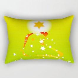 Ribbon and Star Christmas Tree Rectangular Pillow