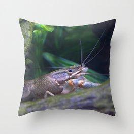 The crayfish Throw Pillow