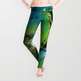 Maelstrom, captivating abstract painting Leggings