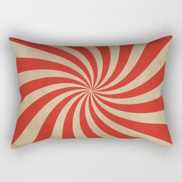Big Top Aged Print in Red Rectangular Pillow