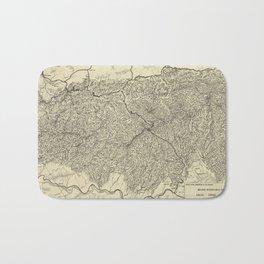 The Great Smoky Mountains National Park Map (1935) Bath Mat