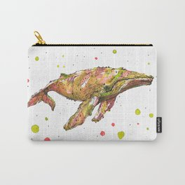 Tangerine Whale Carry-All Pouch