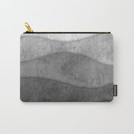 Monochrome waves Abstract modern art Carry-All Pouch