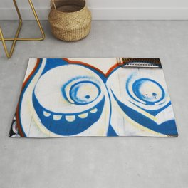 Grafitti Face Rug