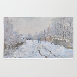 Snow Scene at Argenteuil by Claude Monet Rug
