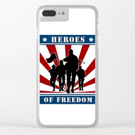 Heroes of Freedom Clear iPhone Case