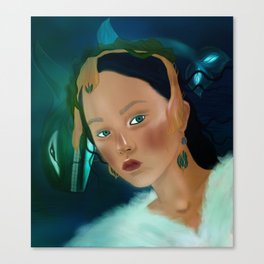 sedna, Inuit goddess of the sea and its creatures Canvas Print