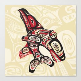 Eagle Fin Killer Whale Canvas Print