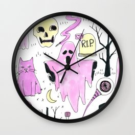 ghost aesthetic Wall Clock