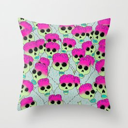 Space Brains! Throw Pillow