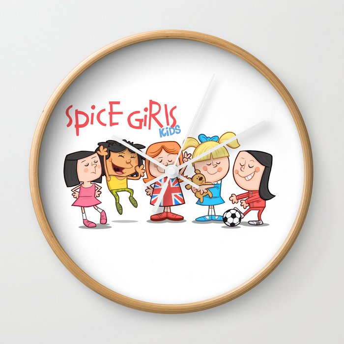 Spice Girls Kids Wall Clock By Thedrawbridge Society6