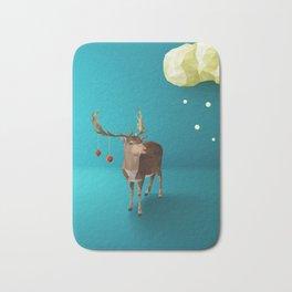 Low Poly Reindeer Bath Mat