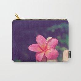 pua melia pink tropical plumeria hawaii Carry-All Pouch