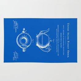 Tea Pot Patent - Blueprint Rug