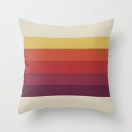 Retro Video Cassette Color Palette Throw Pillow