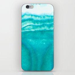 Teal Brainwaves iPhone Skin