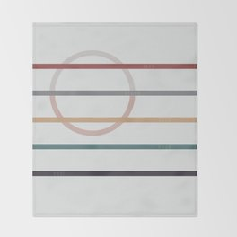 for Love || stripes & circle Throw Blanket
