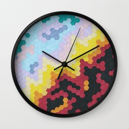 Nebula Hex Wall Clock